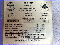 Pentair MiniMax 25 DV Pool Heater control module