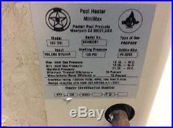 Pentair Pool Prod. MiniMax 100 High Performance Above Ground Pool & Spa Heater