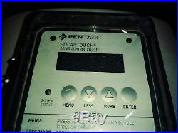 Pentair SolarTouch Solar Control System (see pic whats included)