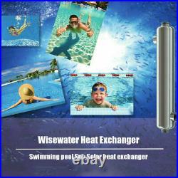 Pool Heat Exchanger 210 kBtu 316L Stainless Steel Same Side Ports 1 1/2& 1 1/2