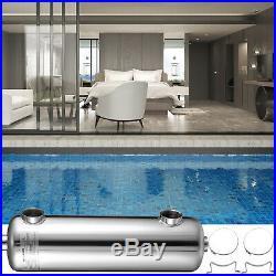 Pool Heat Exchanger Tube Shell Heat Exchanger 260K SS304 Same Side 1+ 1 1/2FPT