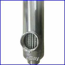 Pool Heat Exchanger Wood Boiler 300K SS316L Same Side 2+ 1 1/2FPT