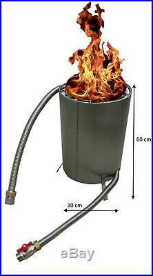 Poolheizung Feuer Poolofen Pool Holz Fire Twister Pro