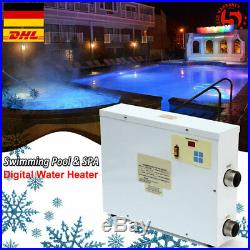 Poolheizung Schwimmbadheizung Wärmetauscher Thermostat Elektrisch Heizung 9KW