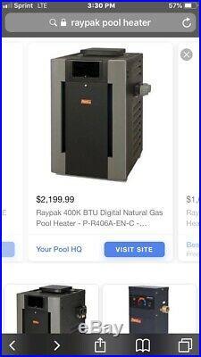 Raypac Natural Gas Pool Heater 399.000 Btu