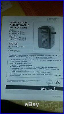 Raypak Rp2100 Digital 399K BTU Natural Gas Pool Heater