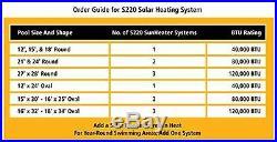 S120u Calentador Solar Universal Para Piscinas 2 Por 20 Pies