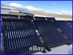 SEA 18 heat pipe vacuum tube pressurized solar water thermal collector SRCC