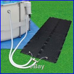 SOLAR HEATER MAT ABOVE GROUND POOL ACCESSORY EASY INSTALL WORKS WithMOST PUMPS