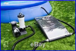 Slim Line Pool Solar Heater Above-Ground Swimming Sun Warmth Energy Efficient