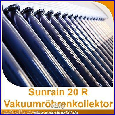 Solar Water Heater Panel, 20 Tube, SRCC certified, pool & home hot water