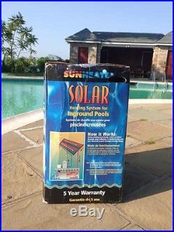 Solar pool panel for inground pools