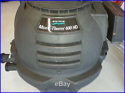 Sta-Rite SR400NA-HD Max-E-Therm Black Natural Gas Pool and Spa Heater