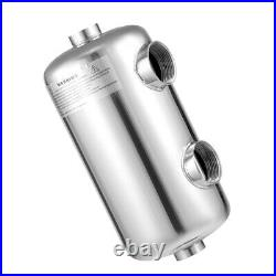 Stainless Steel Pool Heat Exchanger Heat Recovery Pool Heater For Spas 25 L/min