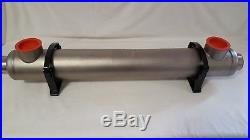 Stainless Steel Tube and Shell with Same Side Ports for Pools/Spas 210,000 BTU