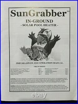 Sun Grabber In-ground Solar Swimming Pool Heater