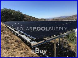 SwimJoy Premium DIY Solar Pool Heating System Kit 4-4'x12.5' Panels 200 Sq Ft