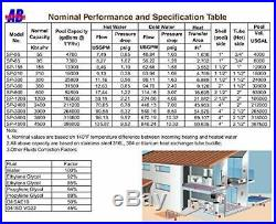 Swimming Pool Heat Exchanger Pool, Solar, Wood Boiler, Shell and Tube, SS316L