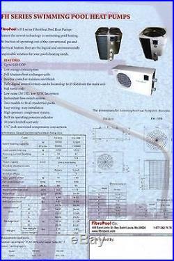 Swimming Pool Heater- Electric Heat Pump-small 55 K BTU Inground Pool Pump