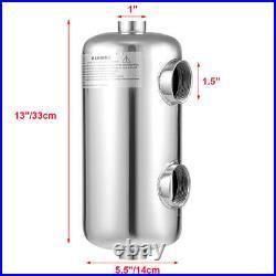 Swimming Pool Heater Exchanger Tube Shell 135K Same Side Pool heat exchange
