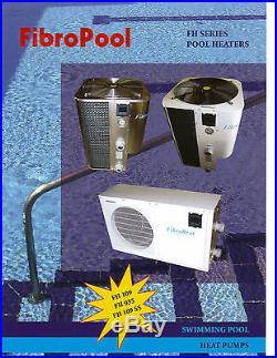 Swimming Pool Heater Fibropool FibroHeat Electric Heat PumP LARGE 109 K BTU
