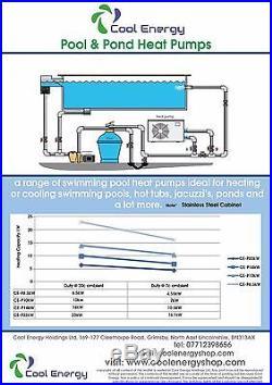 Swimming Pool /pond/hot tub AIR SOURCE HEAT PUMP HEATER 6.5 KW RRP £1,195