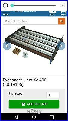 TELEDYNE LARRS heat exchanger for a 400btu heater