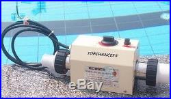 TOPCHANCES Only Support 240V 3KW NEW Swimming Pool and SPA Heater Electric