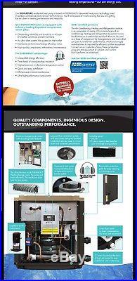 Thermeau Swimming Pool Heat Pump Th125 Thi-15-125 121k Btu Prestige Heat Cool Ti