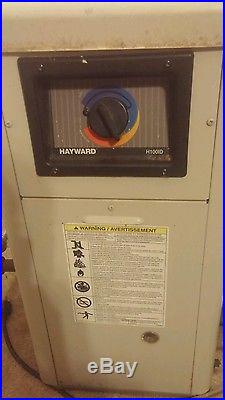 Used Hayward 100K Natural Gas Swimming Pool Spa Heater H100ID1 great deal