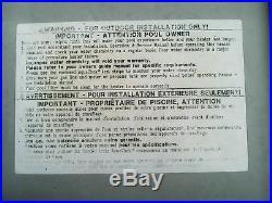 Used Hayward 100K Propane LP Swimming Pool/Spa Heater H100ID