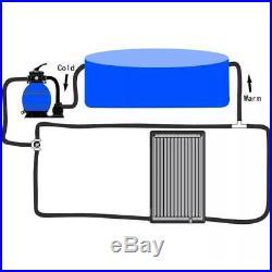 VidaXL Solar Swimming Pool Heater PE Sun Energy Power Water Heating Outdoor
